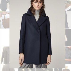 NWT Massimo Dutti Navy Wool Jacket sz M